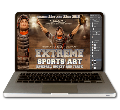EXTREME SPORTS ART: Baseball, Hockey and Track