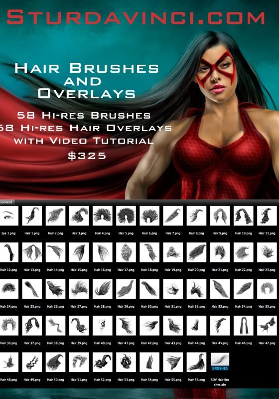 Hair brush Art