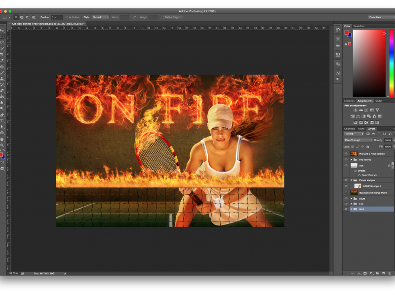 On Fire PSD