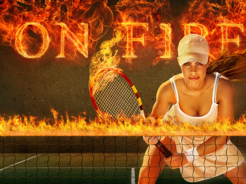 On Fire Tennis Product Example