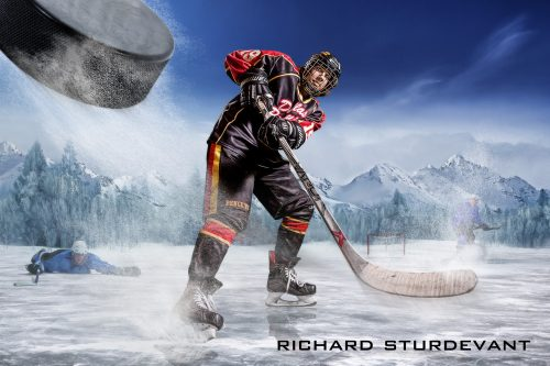 Hockey Player Background