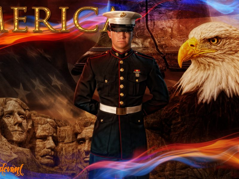 America the Beautiful PSD Background