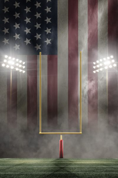 Football _Field Sports_stars and stripes blankfb