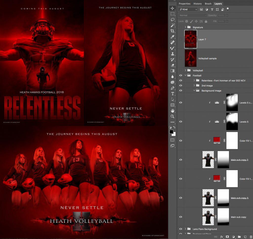 Relentless Never Surrender Red  by Richard Sturdevant - SturDaVinci Art Tools