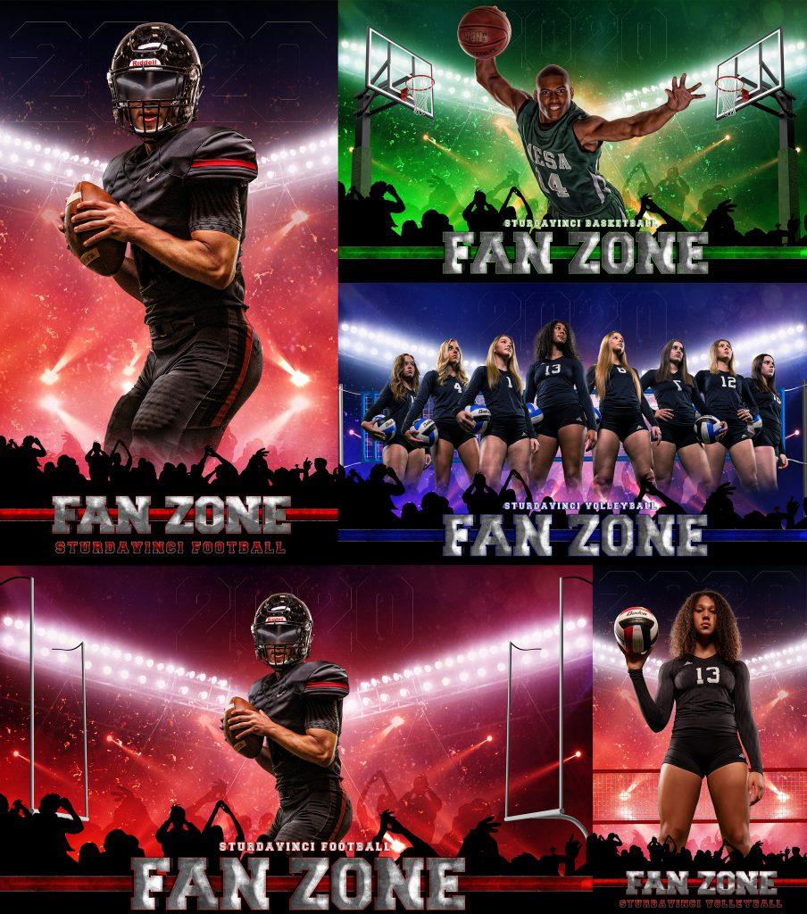 Fan Zone PSD Background by Richard Sturdevant - SturDaVinci Art Tools