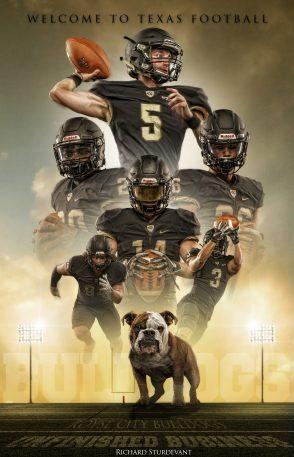 Bulldog Movie Poster Template PSD Background