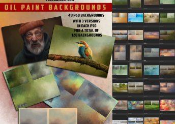 SturDaVinci Art Tools Oil Painted Backgrounds by Richard Sturdevant