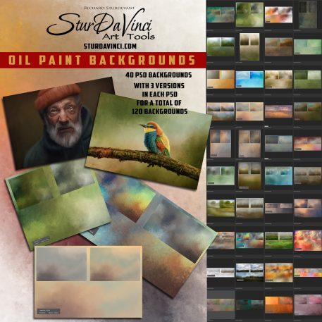 SturDaVinci Art Tools Oil Painted Backgrounds by Richard Sturdevant