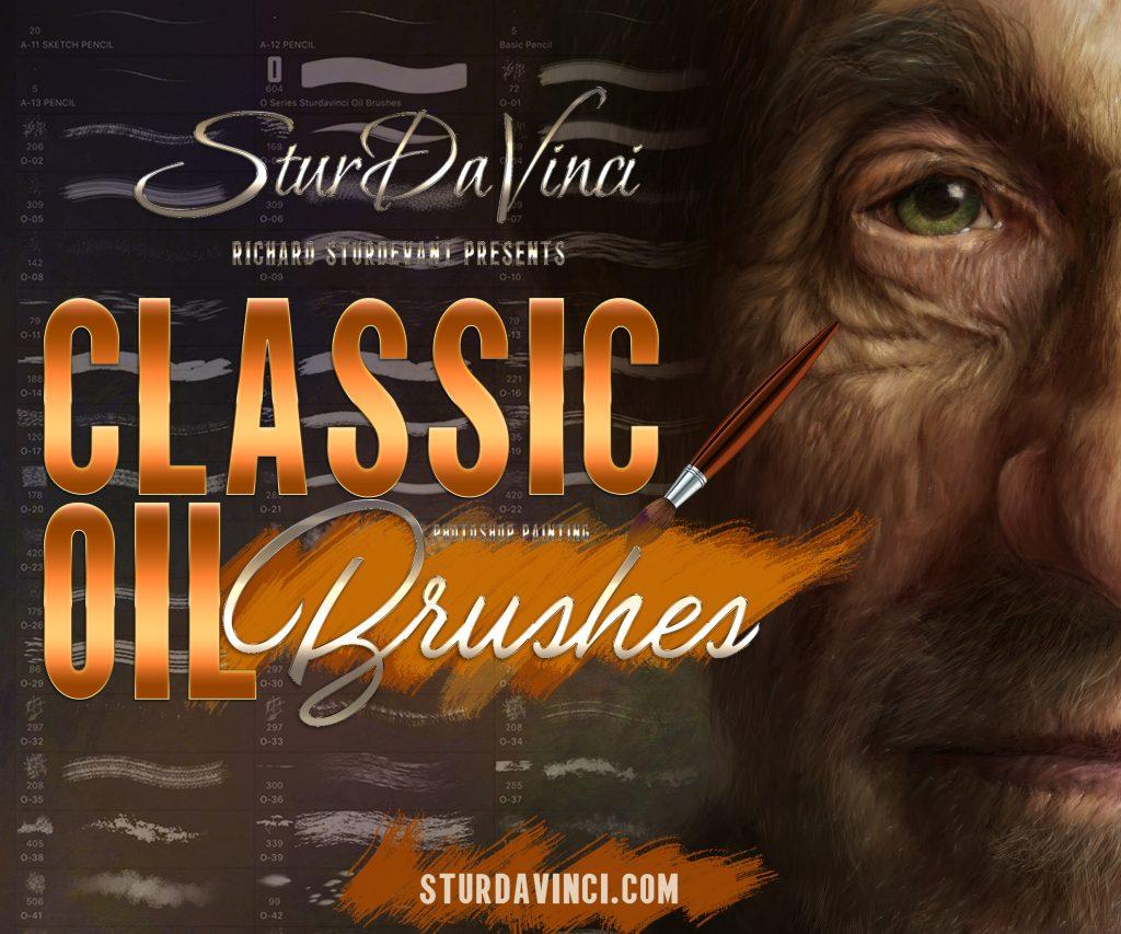 SturdaVinci Art Tools Classic Oil Photoshop Brushes