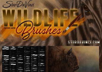 SturDaVinci Wildlife Photoshop Brushes
