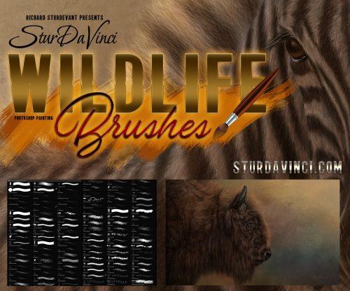 Wildlife Oil Painting Photoshop Brushes