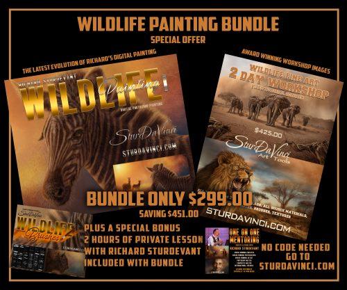 SturDaVinci Art Tools Wildlife Paint Bundle